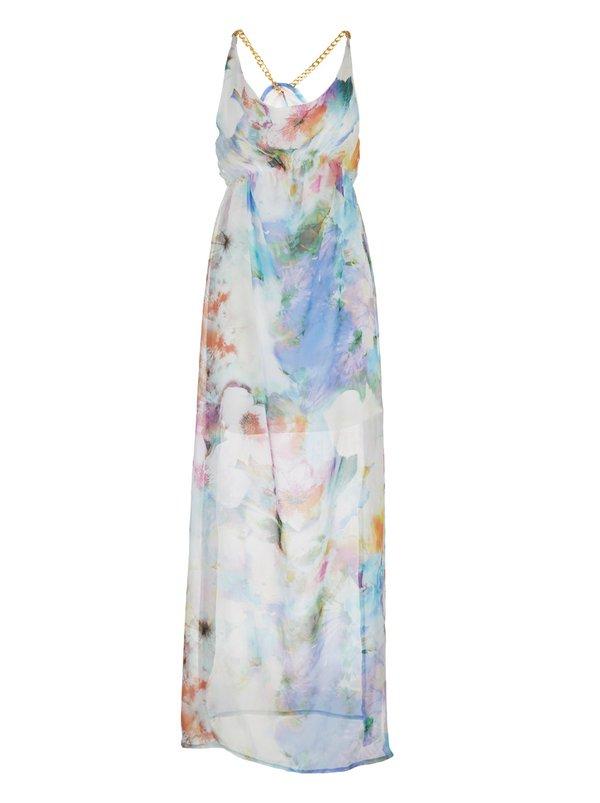 Leandra designs waterfall print maxi dress multi colour for Waterfall design dress