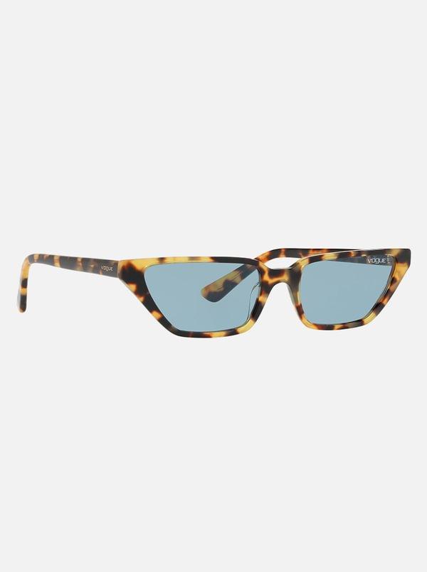 Gigi Hadid Slim Cat-Eye Sunglasses Mid Brown | Vogue