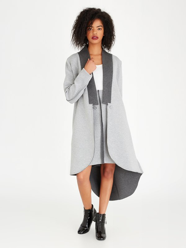 COLLEEN EITZEN Two-tone Odetta Coat Grey