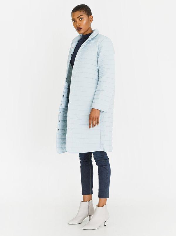 Longline Puffer Jacket Blue | edit