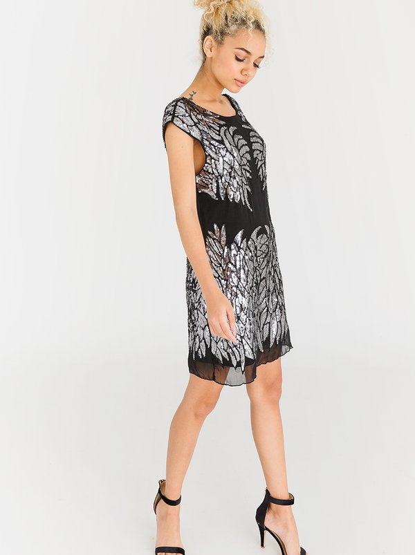 STYLE REPUBLIC Sequin Mini Dress Silver