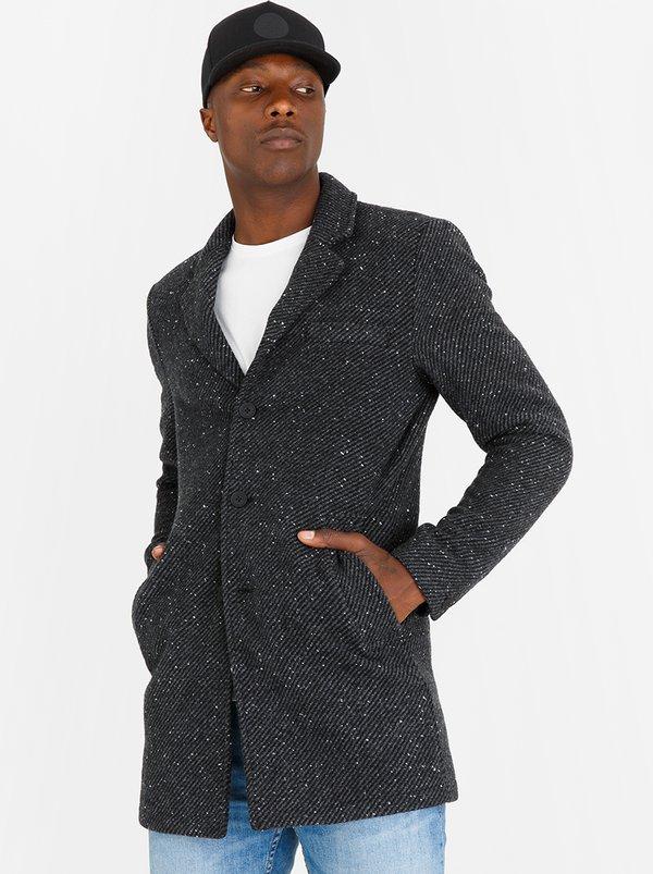Faro Wool Coat Dark Grey | Only & Sons