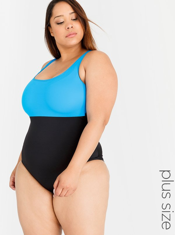 Lithe Plus One Piece with Shelf Bra Turquoise