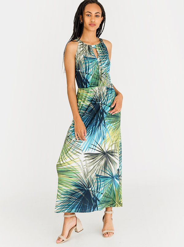 Contempo Amazon Slinky Dress Blue