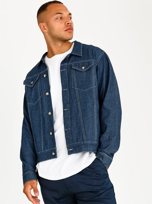 Resist Denim Trucker Jacket Mid Blue