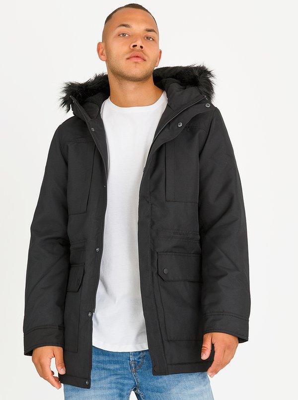Only & Sons Eskil Hooded Parka Jacket Black | spree.co.za | spree ...