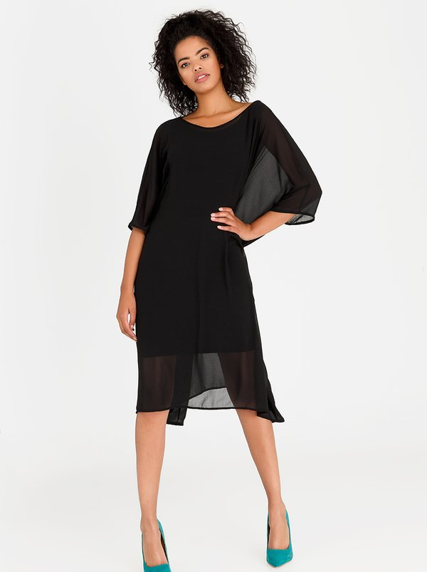 Isabel de Villiers Wrap Kaftan Dress Black