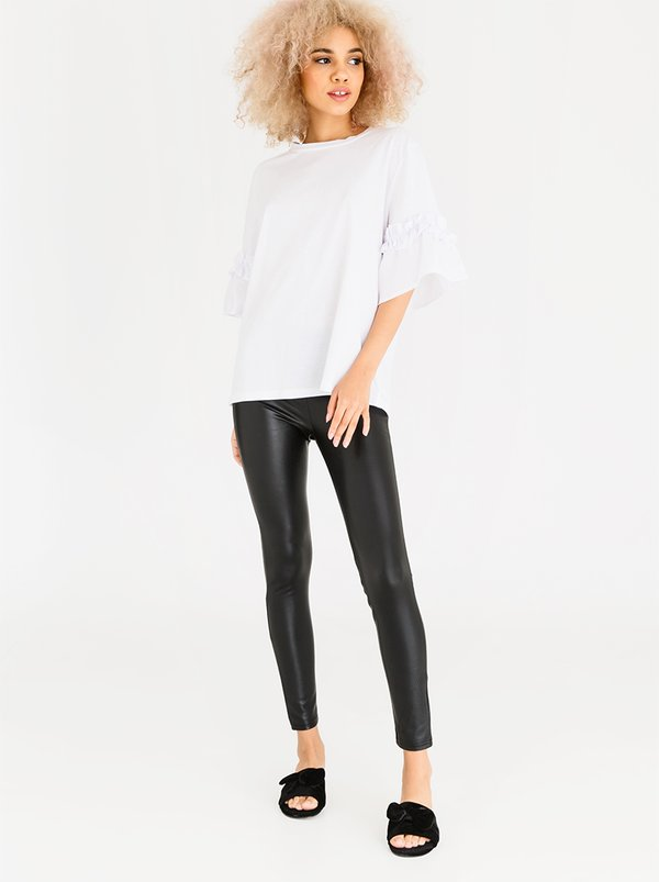 Leather-look Leggings Black | STYLE REPUBLIC