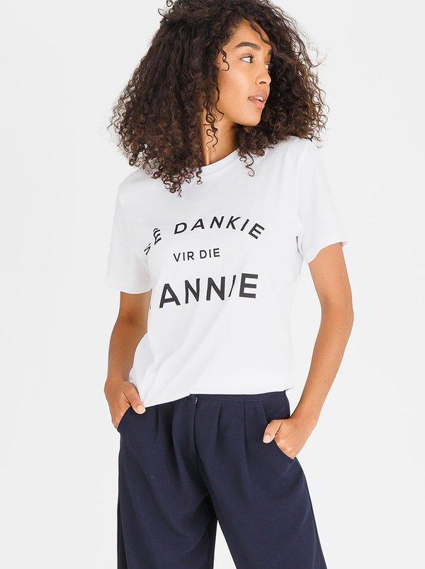 Sê Dankie Vir die Tannie Tee White | Mevrou & Co