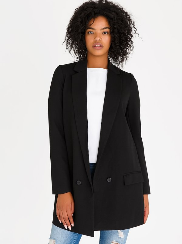 Mosha Longer Length Blazer Black | Vero Moda