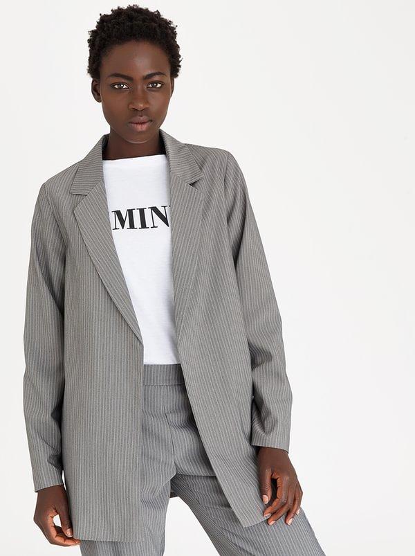 Oversized Blazer Grey | STYLE REPUBLIC