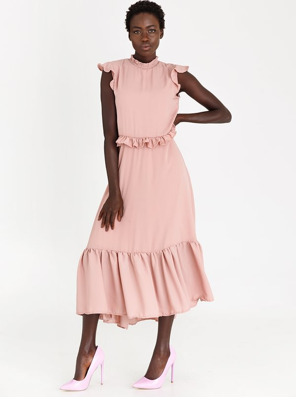Romantic Dress Pale Pink | STYLE REPUBLIC