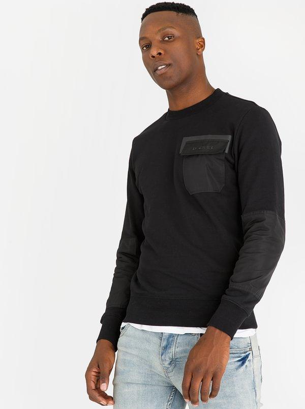 S-Crome - Sweatshirt Black   Diesel