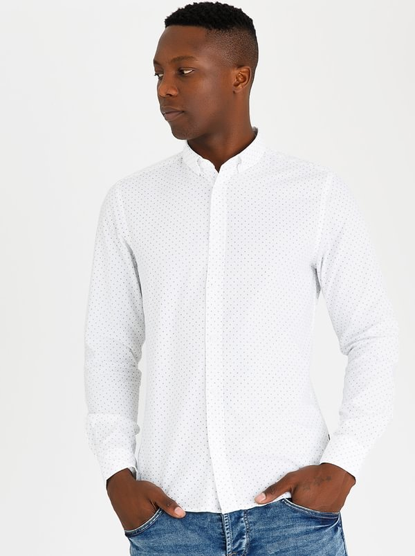 Alvaro Oxford Shirt White | Only & Sons