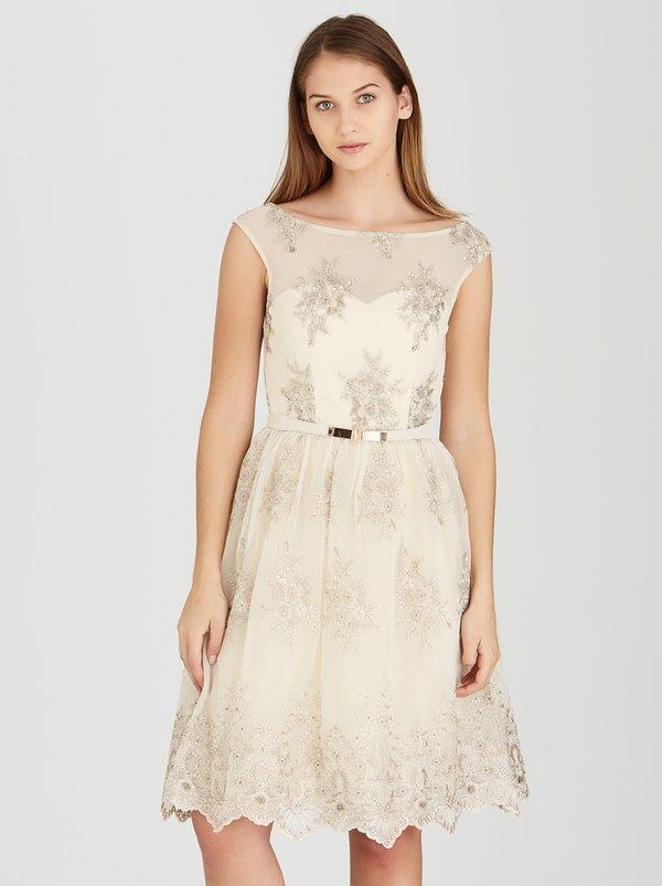 Little Mistress Embroidery Prom Dress Beige 7UIN2LY | spree.co.za