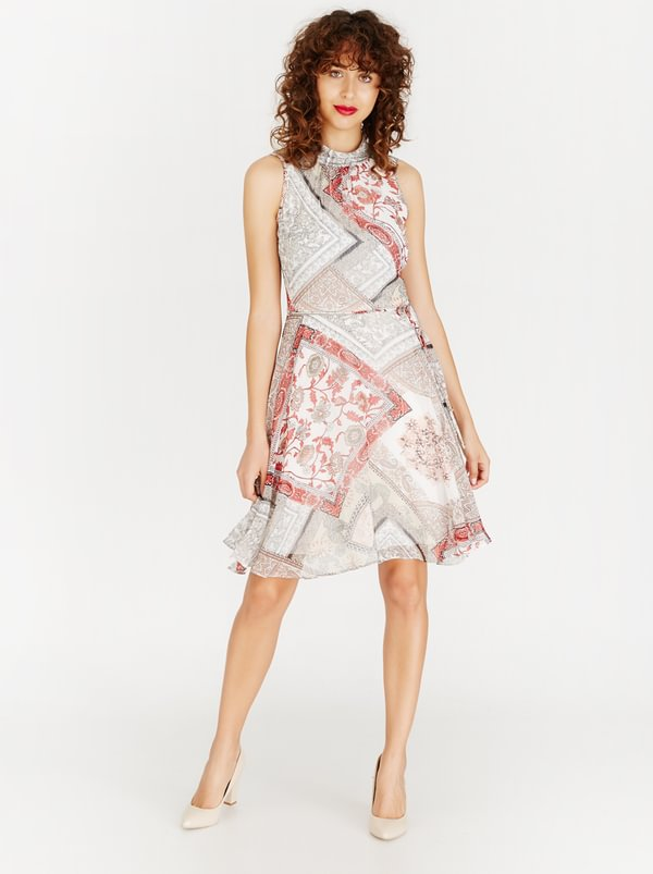 Contempo Four Seasons Chiffon Dress Milk