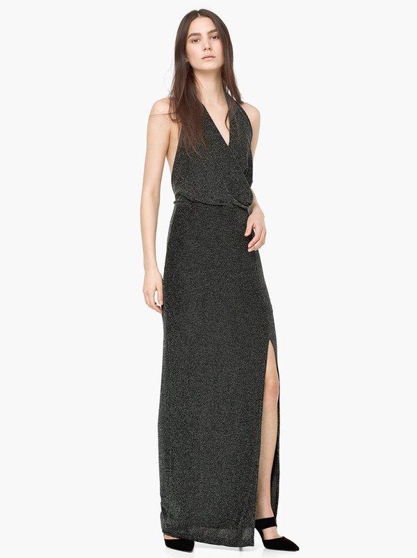 Mango Halterneck Evening Dress Dark Grey Y514srm Spree