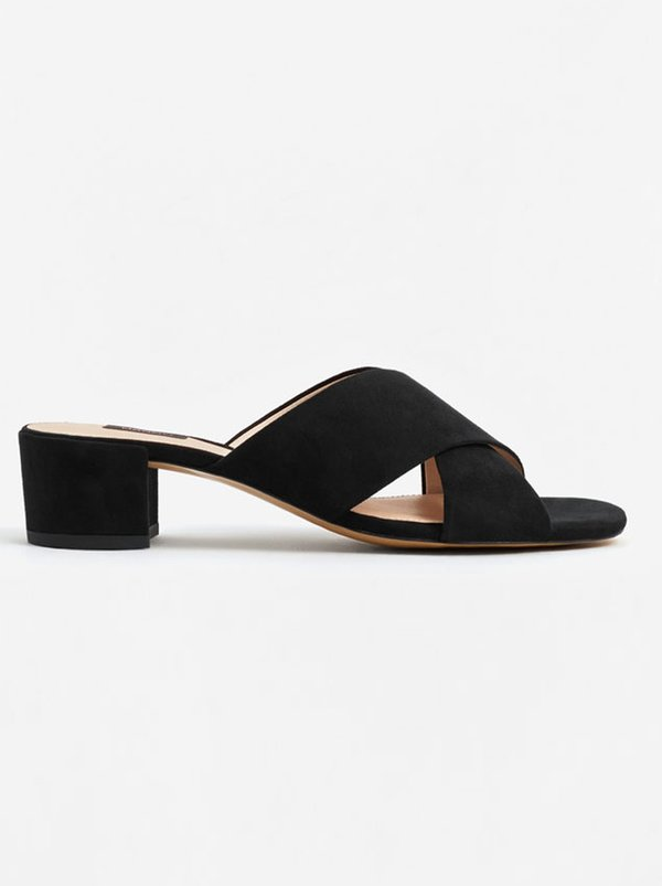 MANGO Criss-cross Sandals Black