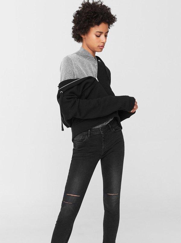 Cropped Skinny Isa Jeans Dark Grey | MANGO