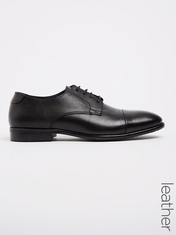 Pringle of Scotland Men's Formal Shoes Leather Welton Lace Up Shoes Black