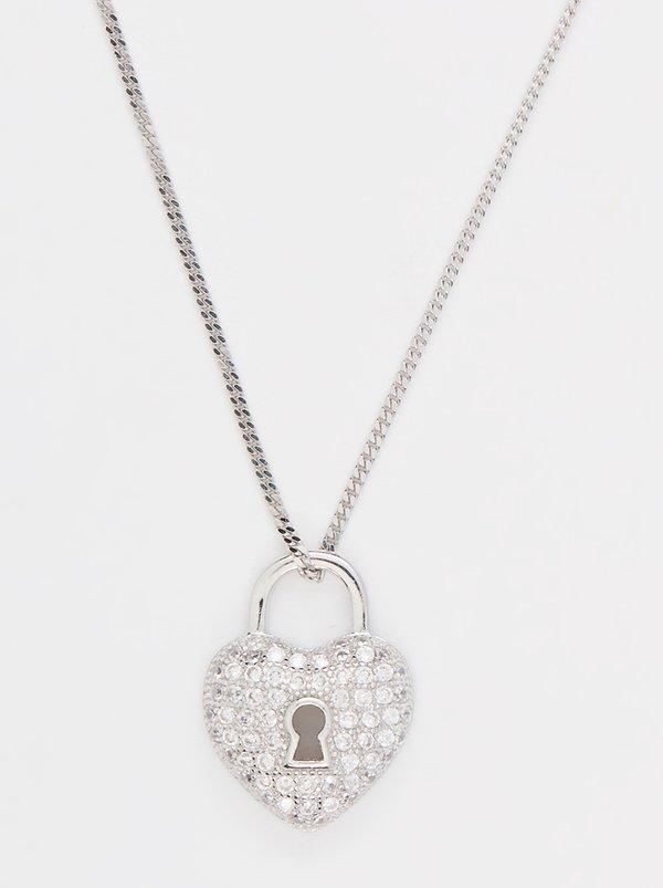 Edit sterling silver heart lock pendant necklace silver xacg971 edit sterling silver heart lock pendant necklace silver aloadofball Gallery