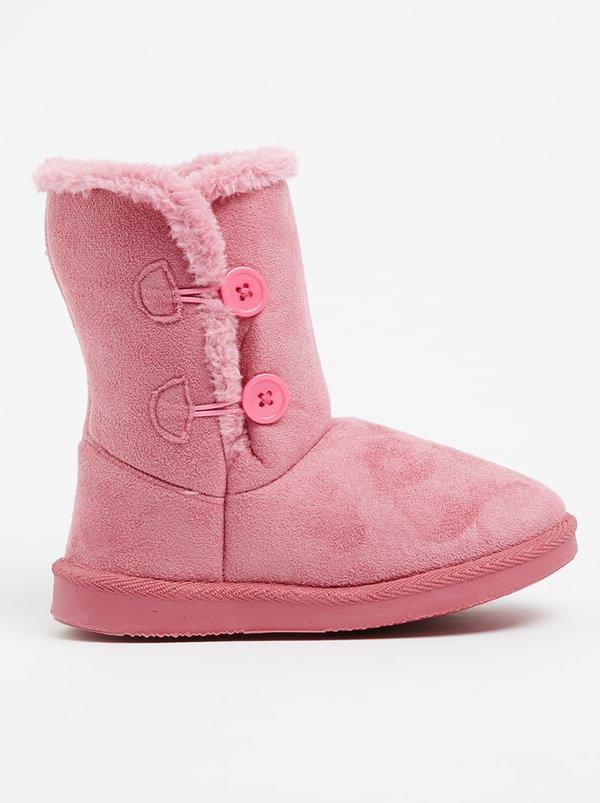 Foot Focus Ugg boot with Fur Inner Dark Pink