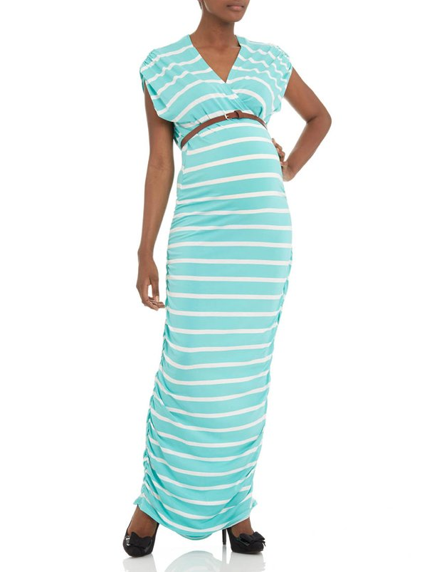 Label of Love Striped dress with belt