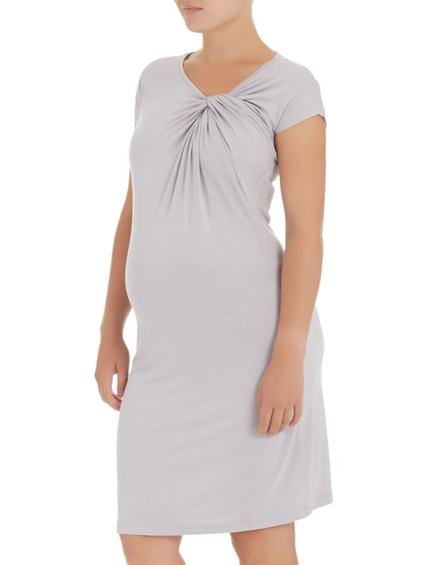 Me-a-mama Knot-detail dress Grey
