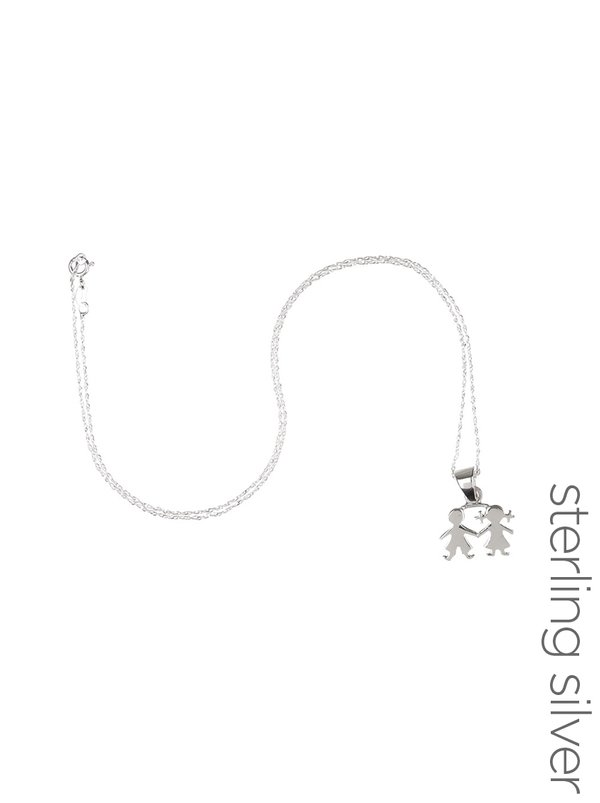 Jlb jewellery sterling silver boy girl pendant necklace silver jlb jewellery sterling silver boy girl pendant necklace silver aloadofball Images