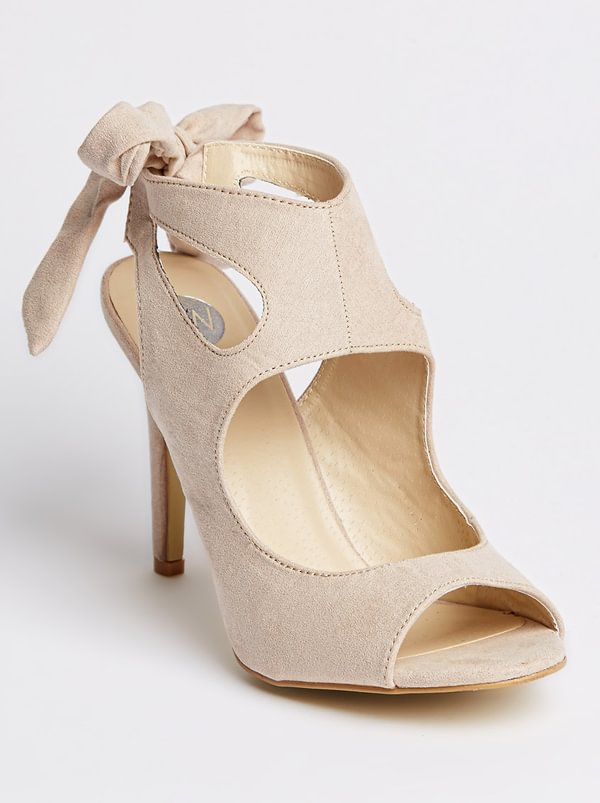 FOOTWORK Slingback Peep-toe Heels Neutral
