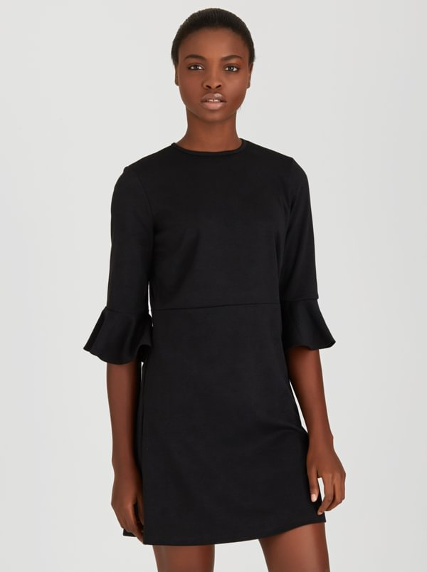 c(inch) Dress With Bell Sleeve Detail Black