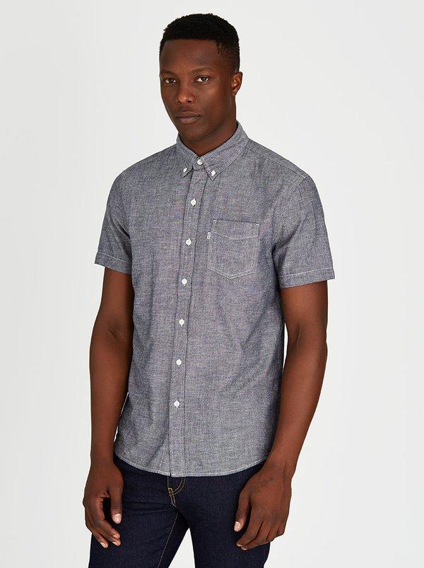 Levi s mens short sleeve classic shirt black v46spbd for Mens black levi shirt