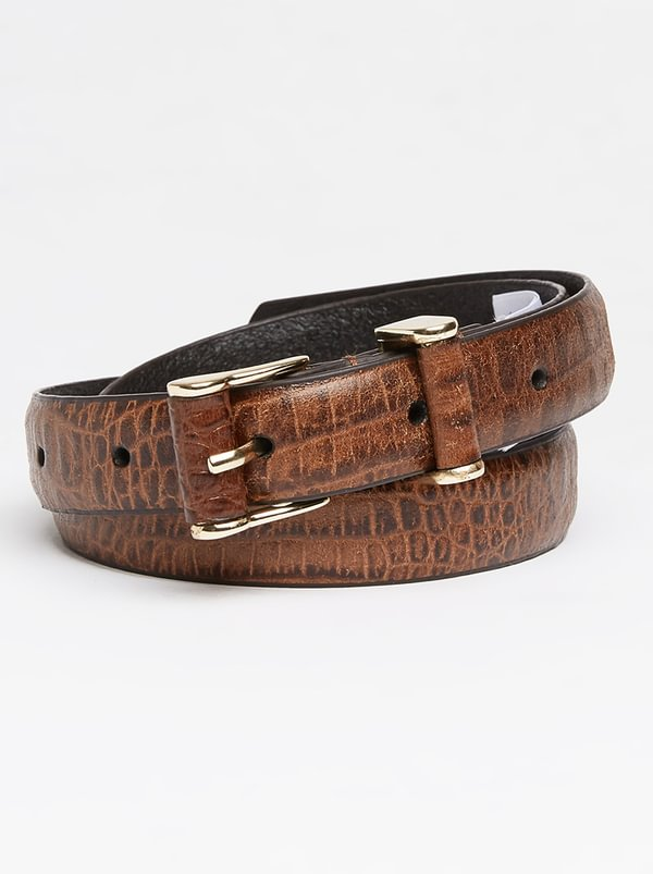 Polo Lilly Croc Belt Dark Brown