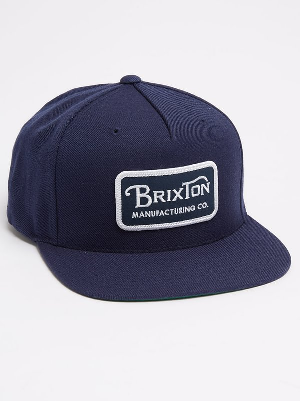 purchase cheap 54576 6926e ... hat d3d41 7adf5 spain brixton grade snapback navy 1bfed 806ff ...