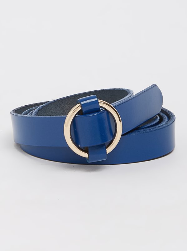 Joy Collectables Leather Loop Belt Navy
