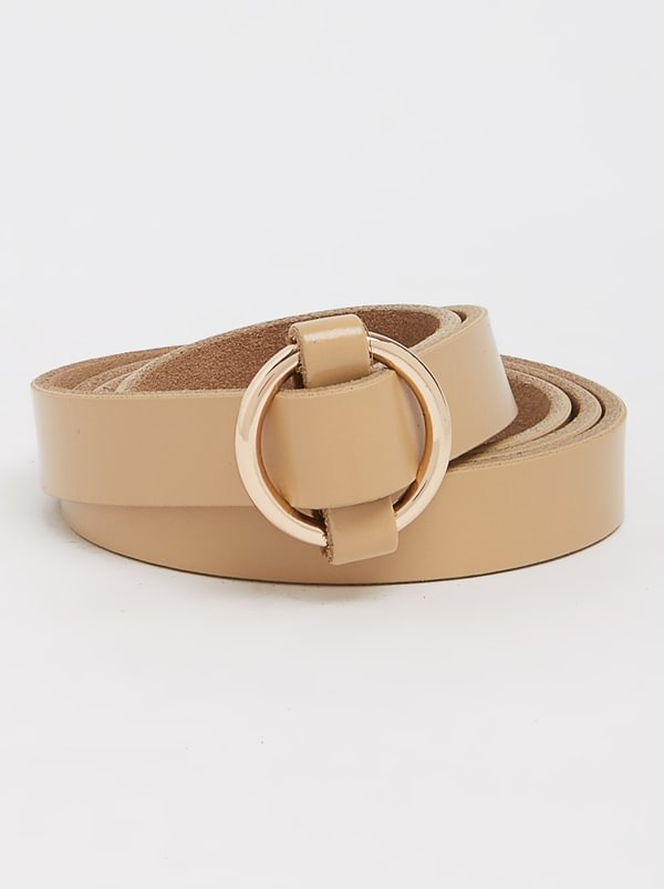 Joy Collectables Leather Loop Belt Neutral