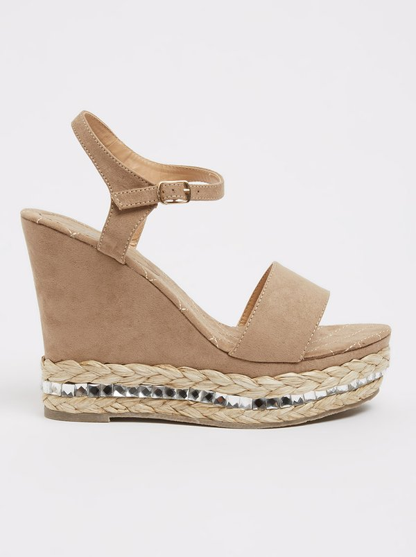 Sassoon Wedge with Rope Sole Stone