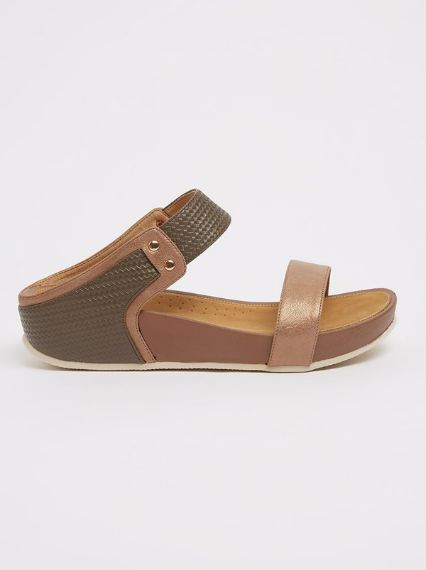 Butterfly Feet Victoria Wedges Mid Brown