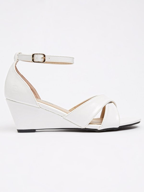 Pierre Cardin Ankle-strap Wedges White