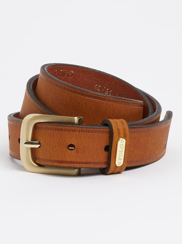 Polo Giselle Leather Belt Tan