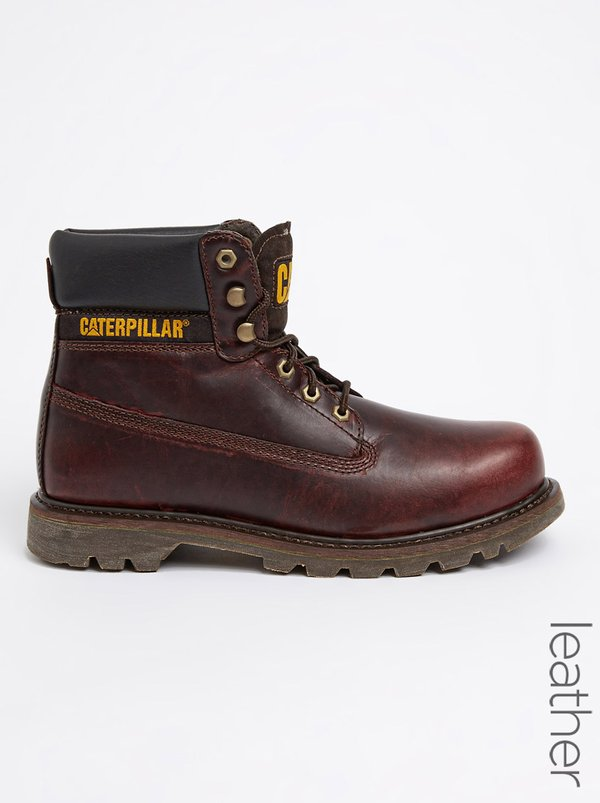 Caterpillar Colorado Leather Boots Red