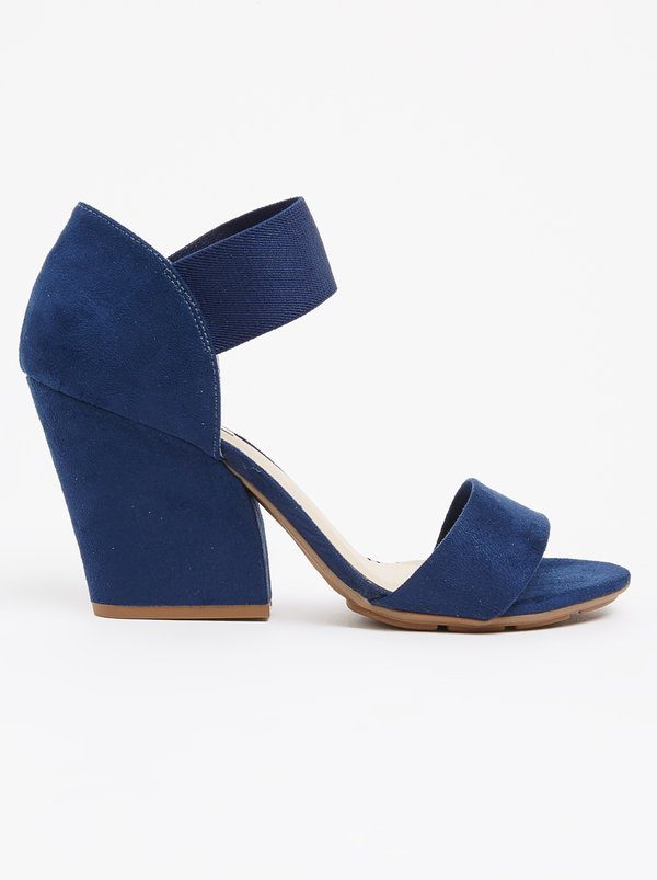 Queue Queue Platform Sling Back Navy buy cheap geniue stockist new sale online supply for sale OrodXWyI