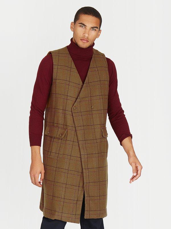 Harper Sleeveless Coat Mid Brown | Lukhanyo Mdingi Essentials