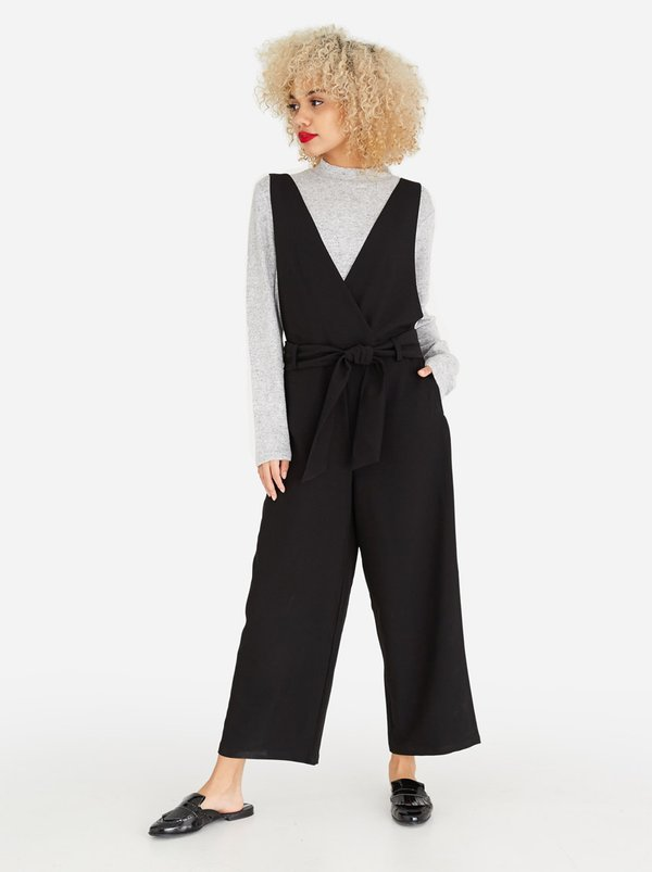 Pieces Albia Wrap Jumpsuit Black