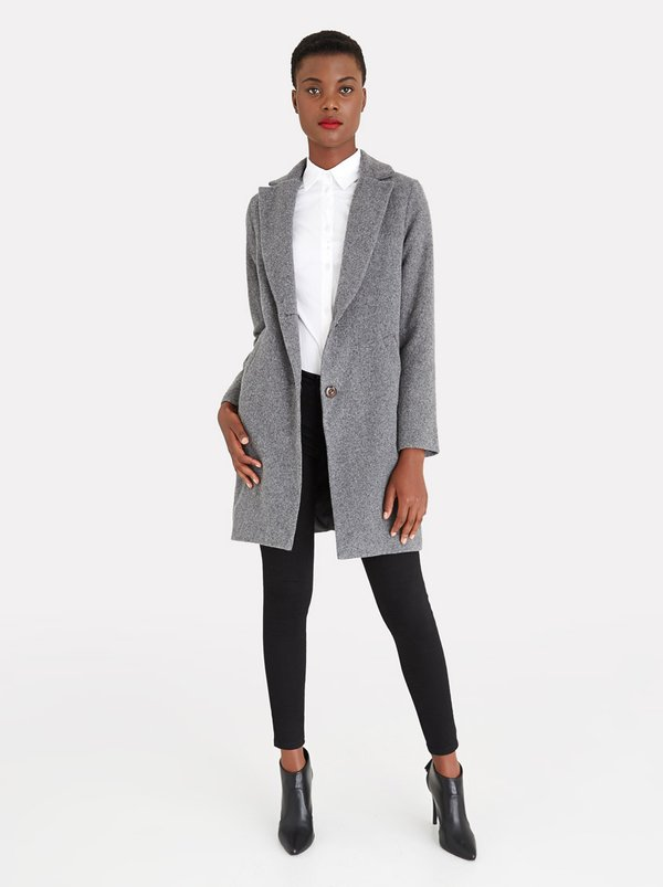 edit Classic Melton Coat Grey