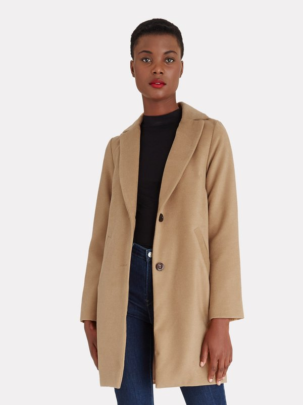 edit Classic Melton Coat Camel