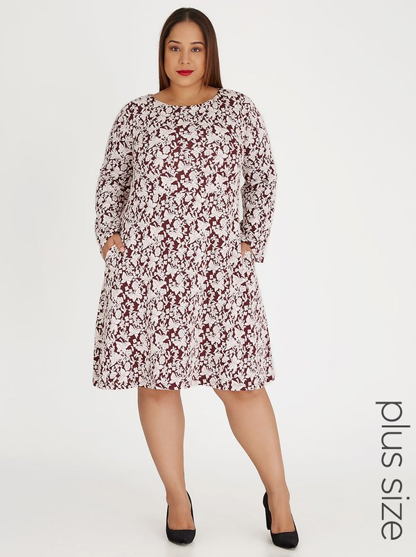 edit Plus Swing Dress Multi-colour