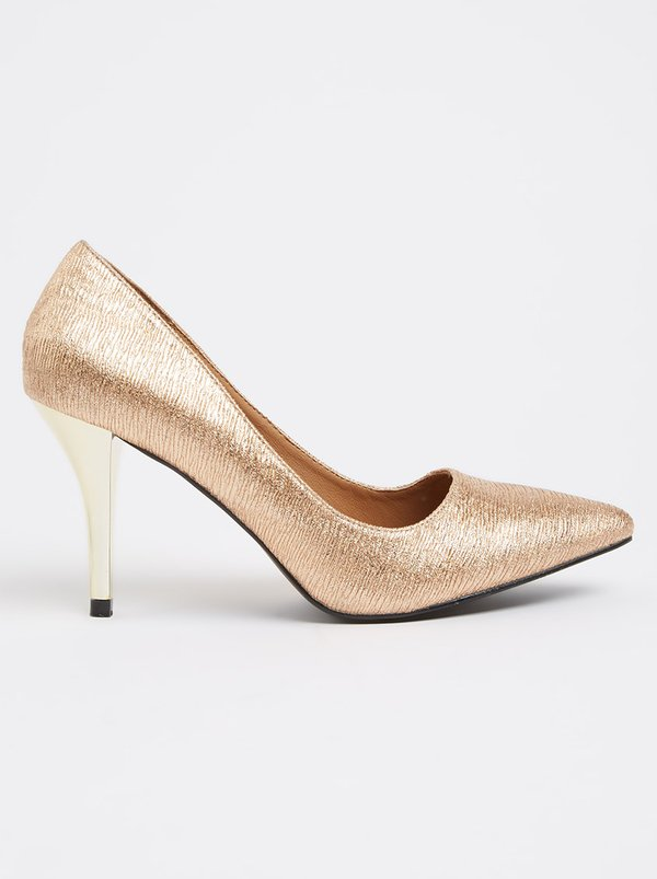 Queue Pointy Court Heels Gold
