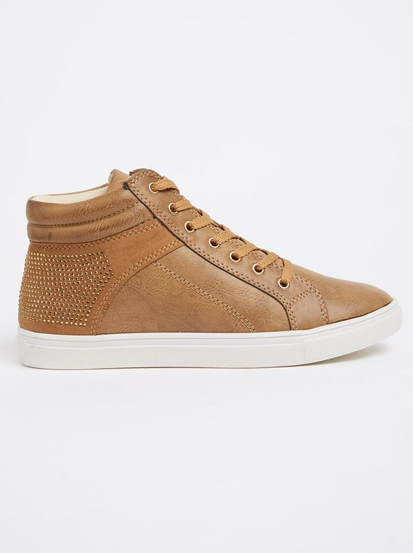 Queue High-tops with Embellishment Tan