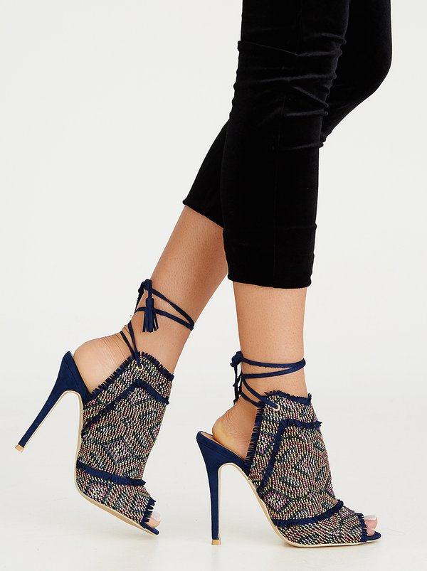 Miss Black Fiction Heels Blue